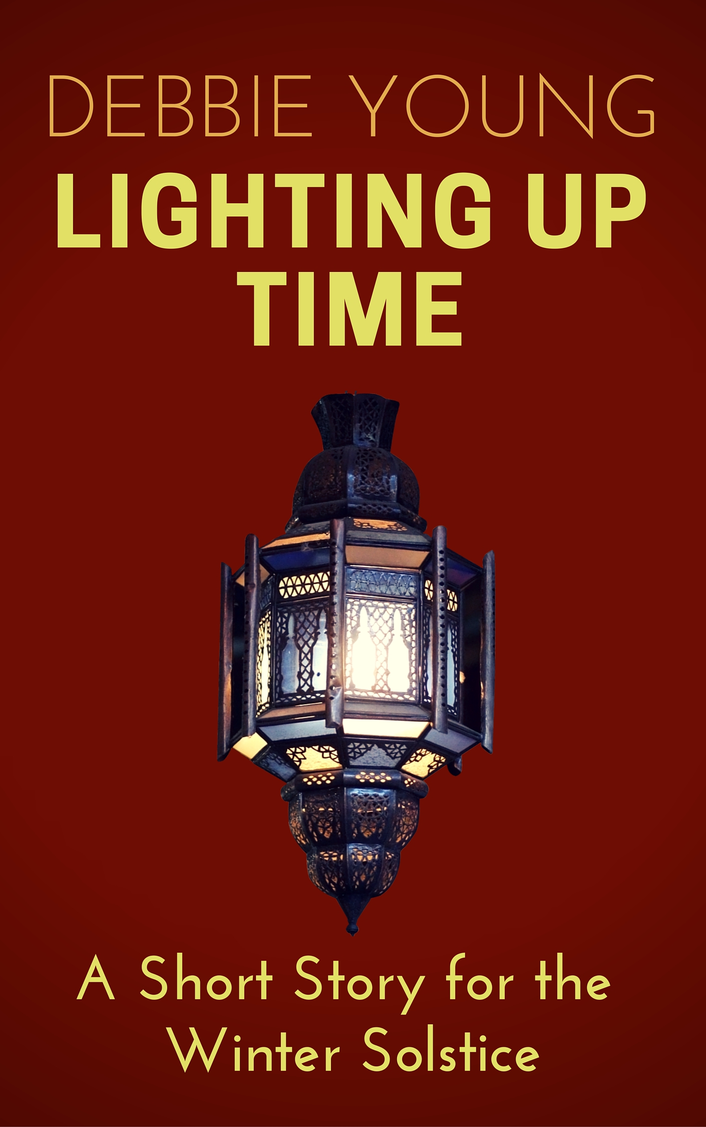 "Cover of my short story ""Lighting Up Time"", written for the winter solstice"