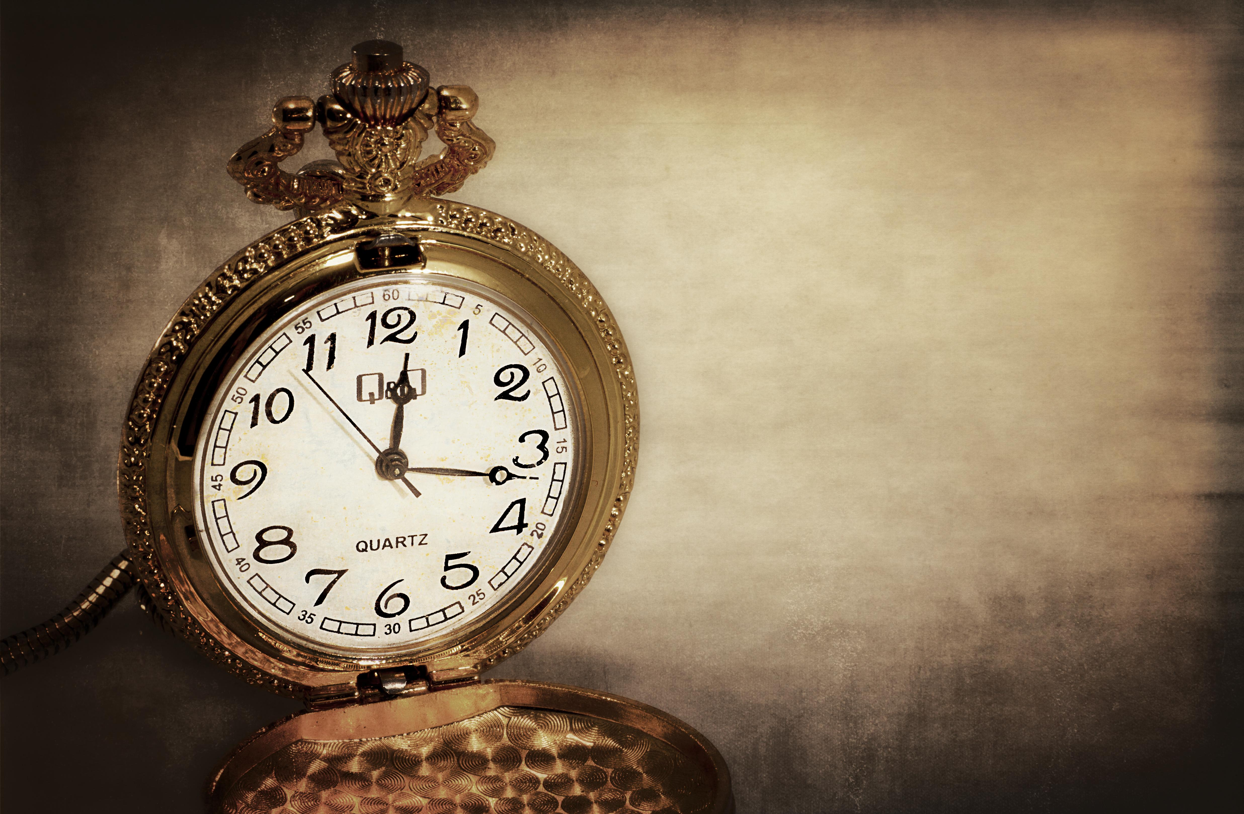 Photo of a vintage pocket watch