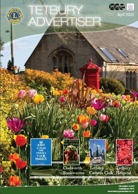 Cover of the April 2020 issues of the Tetbury Advertiser