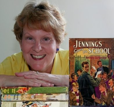 Alison Morton with Jennings books