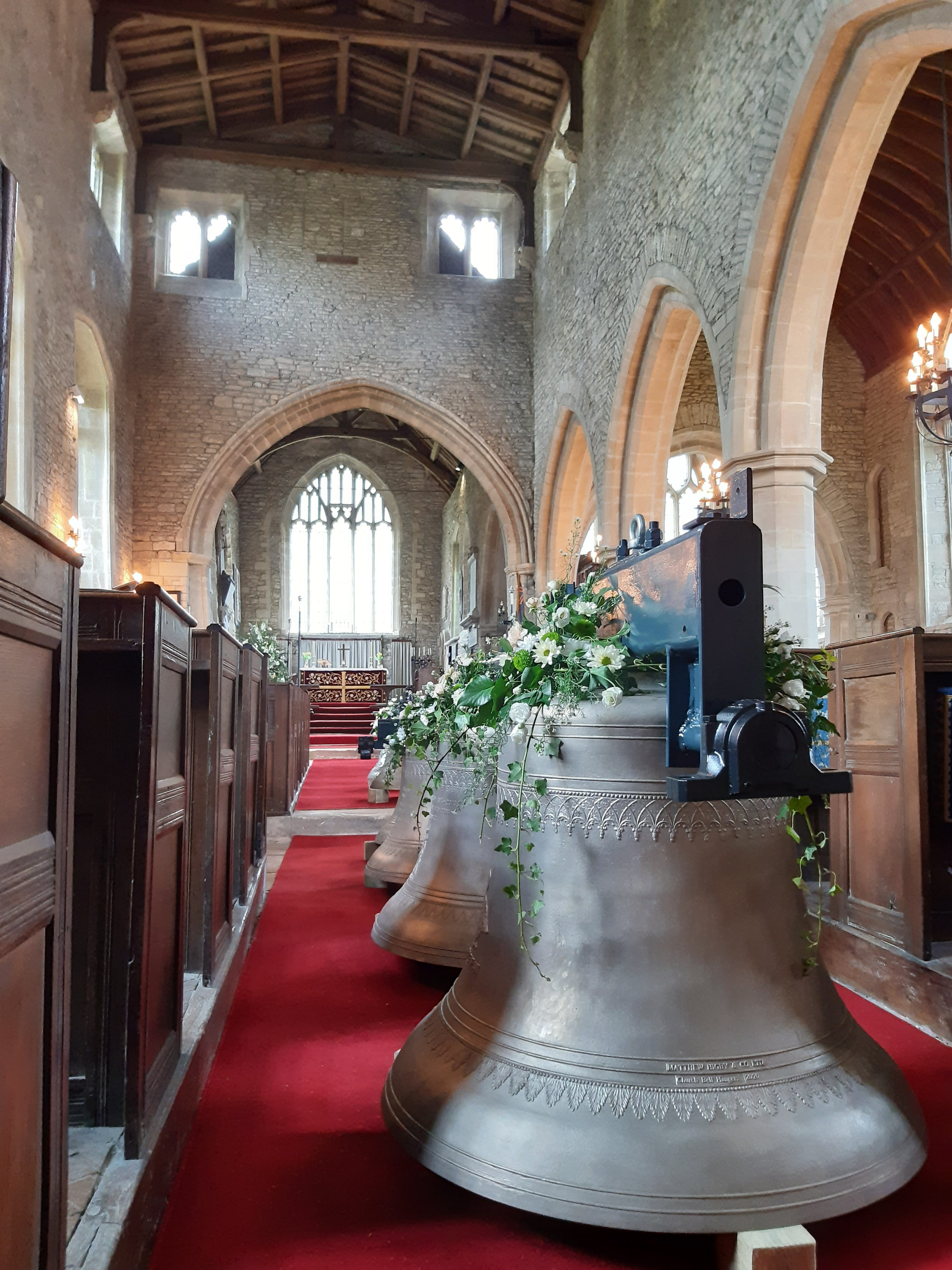 photo of the bells at the blessing service